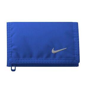 Nike-Basic-Trifold-Unisexe-Portefeuille-Zippe-Bleu-Royal-Cadeau