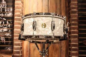 Gretsch-USA-6-5x14-60-039-s-Marine-Pearl-Nitron-Snare-Drum-New