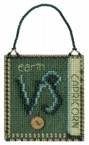 Capricorn 10/% Off Mill Hill Zodiac Charmed Counted X-stitch//Bead Kit