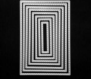 Brand-New-8-Stitched-Edge-Nesting-Rectangle-Framelit-Metal-Die-Cutter-Uk-Seller