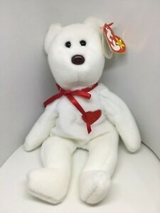 abd1c2649d5 Image is loading VINTAGE-1994-RARE-TY-VALENTINO-BEAR-BEANIE-BABY-