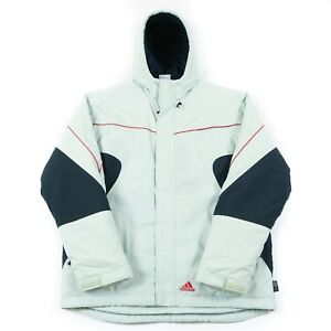 Vintage-ADIDAS-Quilted-Jacket-Men-s-M-Coat-90s-Hooded-Padded-Hood-Retro