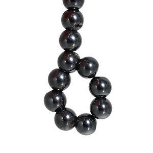 Lot-10-Perle-Hematite-Noir-10mm-Magnetique-Creation-bijoux-bracelet-Collier