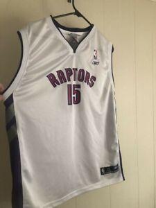 buy popular 427f4 3c046 Details about Vince Carter Toronto Raptors Jersey Boys Large 18/20