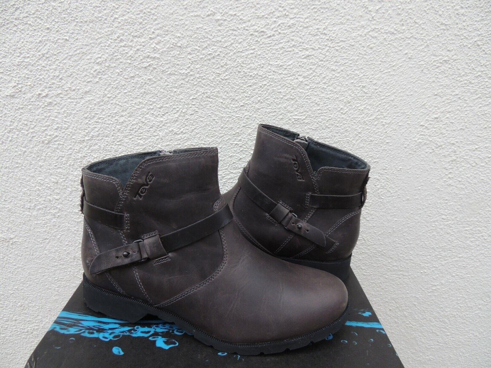 Teva De La Vina Tobillo botas De Cuero Impermeable gris, EE. UU. 6.5 37.5 euros  Nuevo En Caja