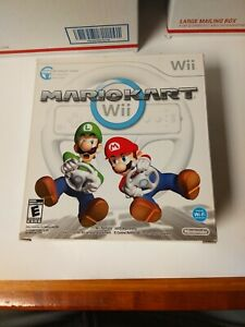 Mario-Kart-Wii-Nintendo-Game-With-Wheel-Complete-With-Box-CIB