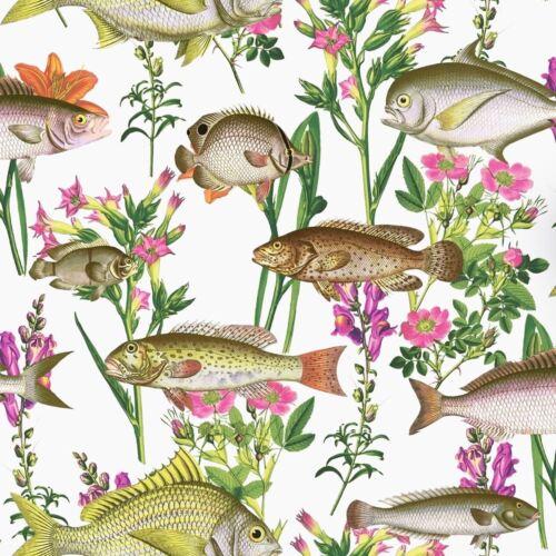 LAGOON FISH WALLPAPER WHITE HOLDEN 12170