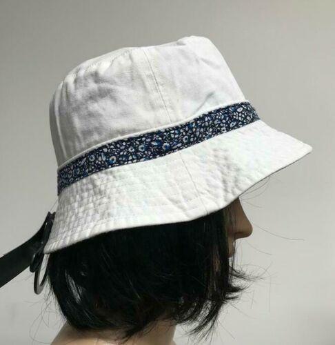 M/&S COLLECTION Women/'s  Pure Cotton Reversible Floral Trim Hat NEW!!