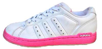 Adidas Coupe Basse Décontracté Lacet Femmes Filles Blanc Sports Fitness Baskets | eBay