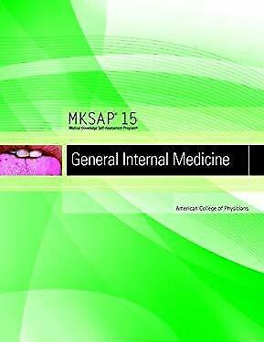 Mksap 15 General Internal Medicine by American College Of  Physicians-ExLibrary