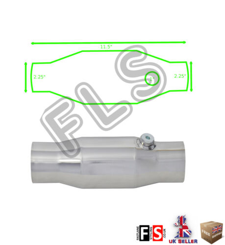 UNIVERSAL T304 STAINLESS SPORTS CAT CATALYTIC CONVERTER 2.25 INCH 200 CELL-SBR