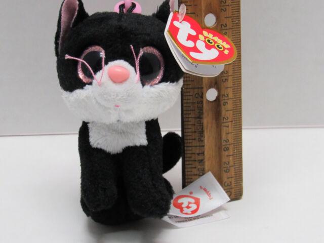 TY beanie Boo s Back Pack Key CLIP PEPPER the Cat Glitter Eyes Retired MWMT  ... 6a1a8abcc838