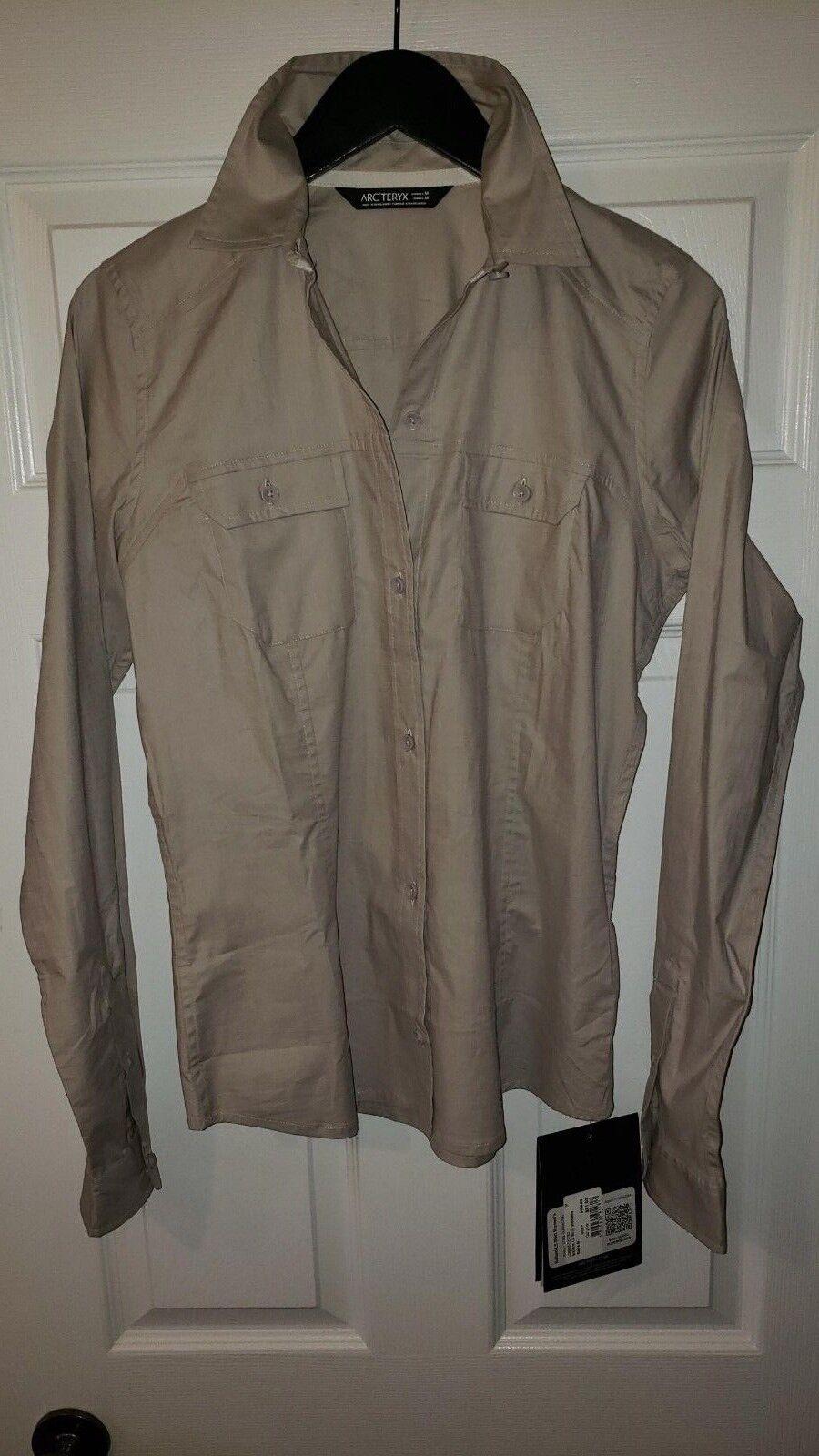 Arc`teryx Ballard long sleeve shirt size Medium in bone color brand new