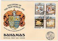 Bahamas Sc 663-666 MNH 1989 Discovery of America FDC