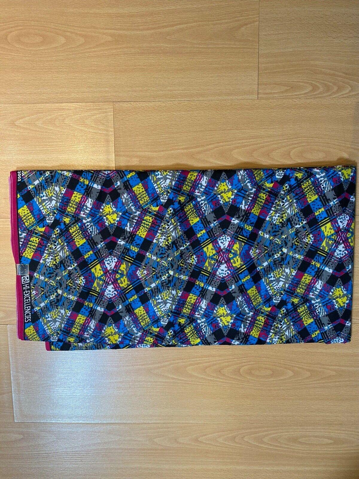 African Print Ankara Fabric Hi-excellencies brand - 6 yards