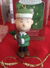 Peanuts Linus Snoopy Christmas Hallmark Keepsake Ornament New In Box