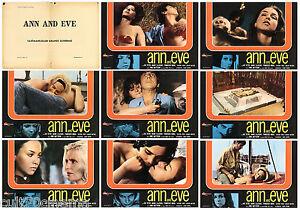 ANN AND EVE SET FOTOBUSTE 8 PZ SEXY MATTSSON SVEZIA THRILLER SWE 1972 LOBBY CARD