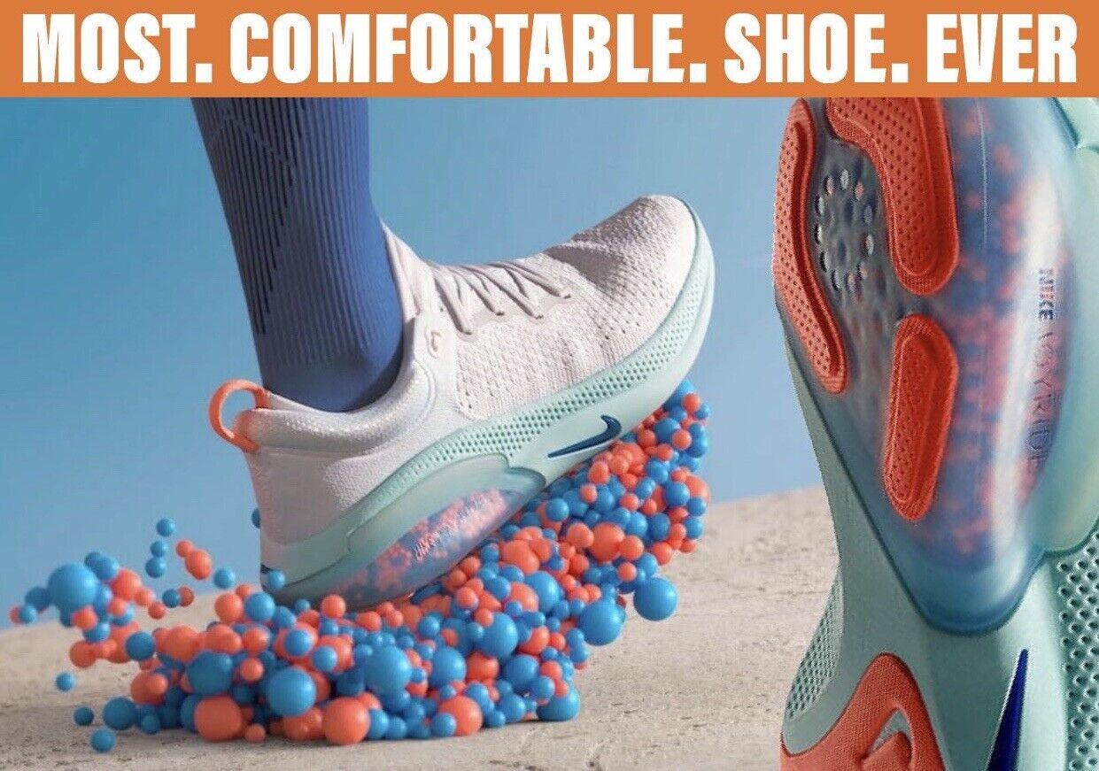 Womens Nike Joyride Run Flyknit White Racer Blue Tint Running Aq2731 100 Sz  7