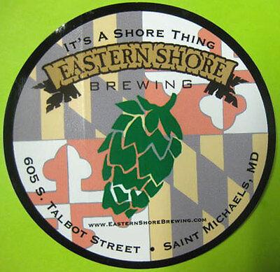 EASTERN SHORE BREWING, HOPS 4 inch Beer STICKER, Label, Saint Michaels,  MARYLAND | eBay