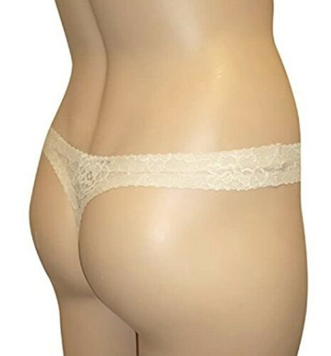 NEW NO VPL THONG LACE WITH STRETCH MARKS /& SPENCER NATURAL LABEL FREE SIZE 14 18