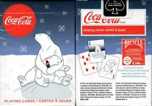 Coca-Cola-Coke-Holiday-Polar-Bear-Share-Playing-Cards-Poker-Size-Deck-USPCC-New
