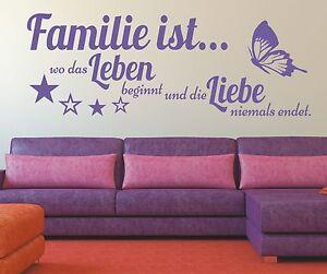 X165-Wandtattoo-Spruch-Familie-wo-das-Leben-Liebe-Wandsticker-Wandaufkleber