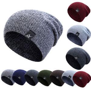 3548279f14e Image is loading Women-Men-Knitted-Warm-Winter-Slouch-Beanie-Hat-