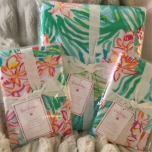 38538c0a758c17 Image is loading Pottery-Barn-LILLY-PULITZER-ORCHID-BORDER-KING-CA-