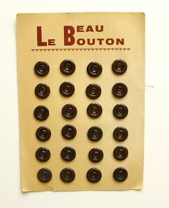 Carte De 24 Boutons Anciens Marron - 18mm - Le Beau Bouton Sur Plaque 93dl2heo-08005530-158947956