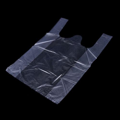 """46x 15*23cm Plastic T-Shirt Retail Shopping Supermarket Bags Handles""""Packagi Fw"""