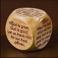 1 X Mealtime Prayer Cube For Children And Families, New, Free Shipping