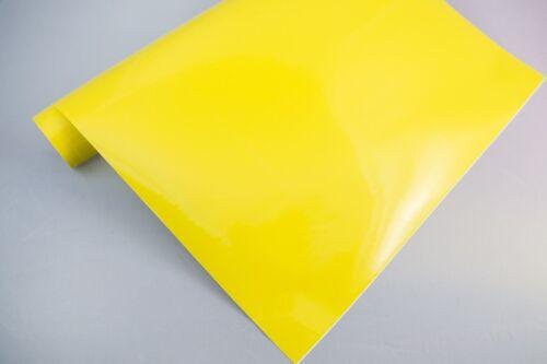 3,2€//m² Plotterfolie glänzend 18 hell-gelb 30x106cm Möbel-Folie selbstklebend