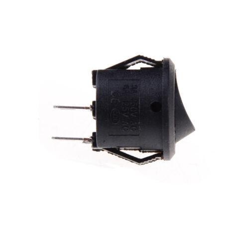 10x 16mm Rundboot Wippschalter 2 Pin EIN-AUS Wippschalter 1A