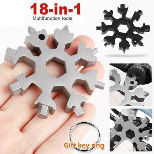 18 In 1 Stainless Steel Multi-Tool Multifunction Snowflake Shape Screwdriver HOT