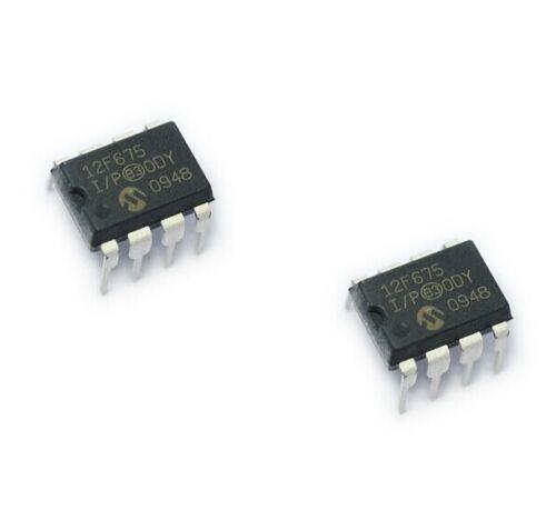 5PCS IC PIC12F675-I//P PIC12F675 DIP8 MICROCHIP MCU CMOS FLASH-BASE 8BIT NEW