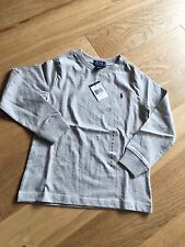 BNWT Genuine Ralph Lauren Boys Child's Kids Grey long Sleeve T Shirt Top Age 6T