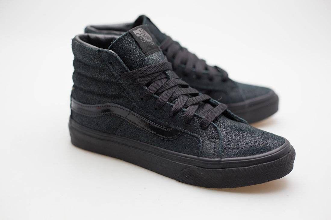 Vans Women SK8-Hi Slim - Patent Crackle black black VN02R2M1L