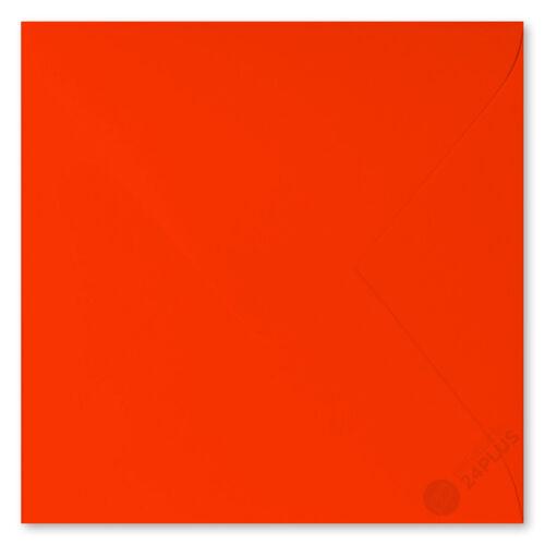 25x sobres feuchtklebend naranja neón 15,5x15,5cm 155x155mm