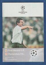 Orig.PRG   Champions League 1997/98    REAL MADRID - OLYMPIAKOS PIRÄUS !! SELTEN