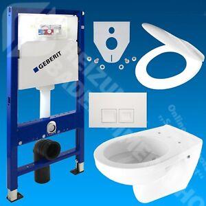 Geberit-Duofix-Vorwandelement-Wand-Tiefspuel-WC-Delta-50-WC-Sitz-WC-Set
