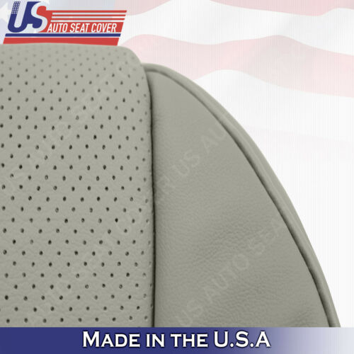 DRIVER /& PASSENGER Bottoms Perforated Leather Cover GRAY For 2007-2012 Acura MDX