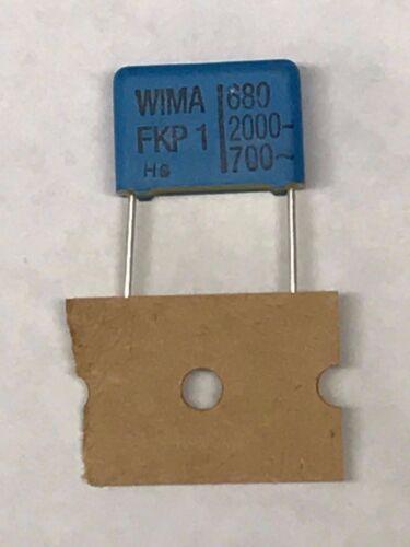 WIMA FKP1 680pF 2kVDC 700VAC 5/% High-Voltag Polypropylene Film Capacitor Radial⚡
