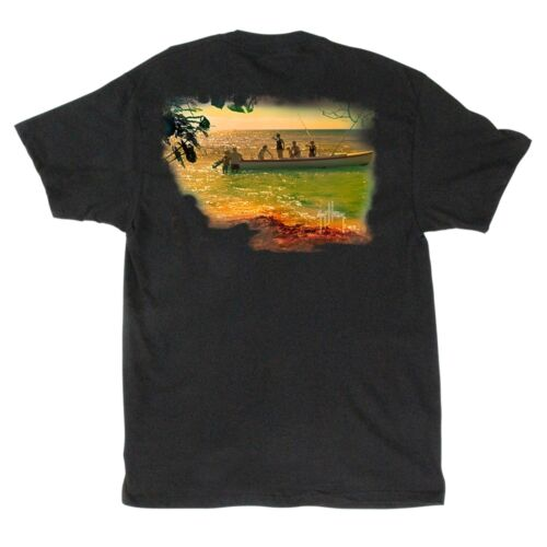 Guy Harvey Back In The Day Mens Pocket T-Shirt MTH11015-Black
