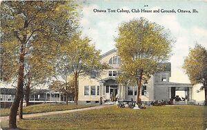 Image is loading Illinois-Il-Postcard-1914-OTTAWA-Tent-Colony-CLub- & Illinois Il Postcard 1914 OTTAWA Tent Colony CLub House Grounds | eBay