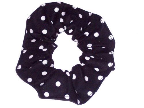 Hair Scrunchie Polka Dots Dot Fabric Ties Scrunchies by Sherry