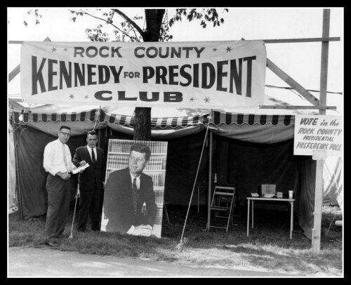 John Kennedy Campaign Photo 8X10-1959 Rock County Wisconsin