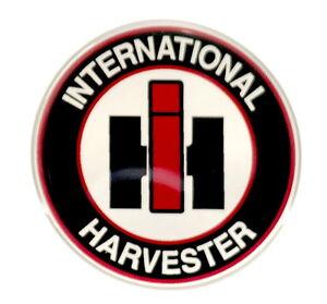 International Harvester Logo >> Details About International Harvester Emblem Round Satin