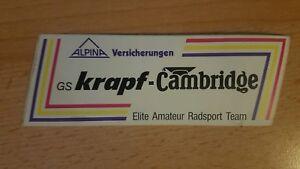Aufkleber Krapf-Cambridge Elite-Radsport Team Rarität! - Dülmen, Deutschland - Aufkleber Krapf-Cambridge Elite-Radsport Team Rarität! - Dülmen, Deutschland