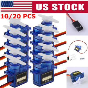 20x 9G SG90 Micro Servo Motor For RC Robot Helicopter Airplane Aircraf Car Boat