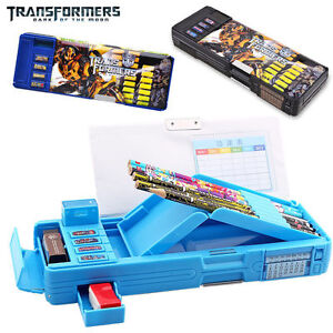transformers students multifunction stationery pencil case korean